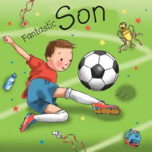 TW677 - Son Birthday Card Footballer